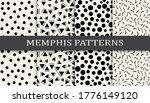 seamless memphis style pattern... | Shutterstock .eps vector #1776149120
