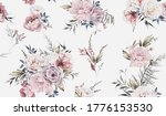 seamless floral pattern with... | Shutterstock . vector #1776153530