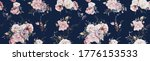 seamless floral pattern with... | Shutterstock . vector #1776153533