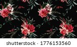 seamless floral pattern with...   Shutterstock . vector #1776153560