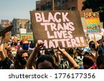 Small photo of Grassroots march for Gay Pride with emphasis on Black Lives and Trans Lives. Organized by Brave Space Alliance, The National Trans March, Gay Liberation Network, CAARPR in Chicago, IL on June 28, 2020