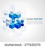 abstract blue cubes vector... | Shutterstock .eps vector #177620270