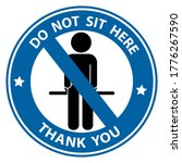 please don't sit here for keep...   Shutterstock .eps vector #1776267590