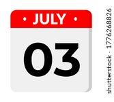 july 3   calendar icon.... | Shutterstock .eps vector #1776268826