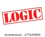 logic red rubber stamp over a... | Shutterstock . vector #177629804