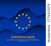 european union abstract flag... | Shutterstock .eps vector #1776313379