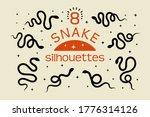 A Set Of Black Snake...