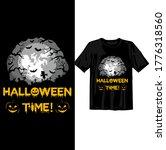 halloween time moonlight scene. ... | Shutterstock .eps vector #1776318560