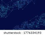 science network pattern ...   Shutterstock . vector #1776334193
