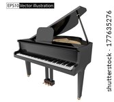 vector illustration gand piano...   Shutterstock .eps vector #177635276