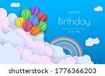 origami happy birthday greeting ...   Shutterstock .eps vector #1776366203