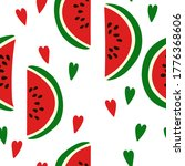 seamless pattern with slices of ... | Shutterstock .eps vector #1776368606