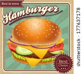 fast food hamburger... | Shutterstock .eps vector #177637178
