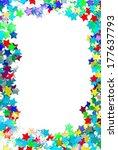 Confetti Colorful Frame Border...
