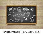 blackboard on a background of... | Shutterstock .eps vector #1776393416