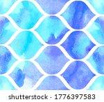 morrocan ornament of blue... | Shutterstock .eps vector #1776397583