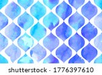 morrocan ornament of blue... | Shutterstock .eps vector #1776397610