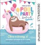 kids birthday  pool party...   Shutterstock .eps vector #1776400580