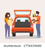 afro american man and woman... | Shutterstock .eps vector #1776419600