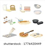 baking process with doughing...   Shutterstock .eps vector #1776420449