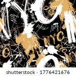 graffiti style seamless... | Shutterstock .eps vector #1776421676