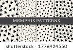 seamless memphis style pattern... | Shutterstock .eps vector #1776424550