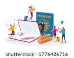 characters get approved visa.... | Shutterstock .eps vector #1776426716