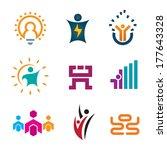 creative thinking idea people... | Shutterstock .eps vector #177643328