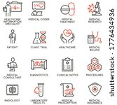vector set of linear icons... | Shutterstock .eps vector #1776434936