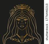 moon flowers night goddess.... | Shutterstock .eps vector #1776440213