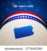Pennsylvania map vector background