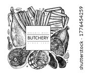 vintage vector meat products... | Shutterstock .eps vector #1776454259