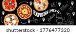 poster or banner for pizza... | Shutterstock .eps vector #1776477320