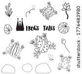 frogs tales set. 15 vector... | Shutterstock .eps vector #1776483980