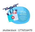drone delivery concept.flying... | Shutterstock .eps vector #1776516470