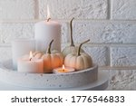 Autumn Home Decor With White...
