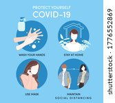 protect yourself from covid 19  ... | Shutterstock .eps vector #1776552869