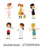 vector set of female... | Shutterstock .eps vector #1776559103