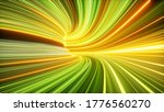 3d Render  Abstract Yellow...