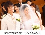japanese bride and groom... | Shutterstock . vector #177656228