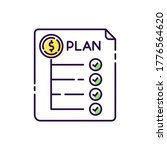 expenditure plan rgb color icon....   Shutterstock .eps vector #1776564620