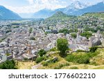 Scenic overlook in Sion, Wallis, Switzerland