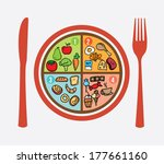 healthy food over white... | Shutterstock .eps vector #177661160