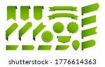 vector set of green eco banners ... | Shutterstock .eps vector #1776614363