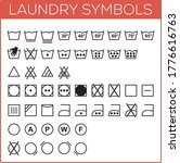 laundry symbols set. vector... | Shutterstock .eps vector #1776616763