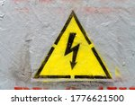 Electricity Caution Sign ...