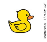 Yellow Rubber Duck Icon...