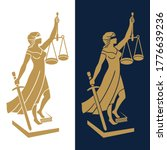 justice goddess themis  lady...   Shutterstock .eps vector #1776639236