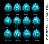 set of zodiac signs icons.... | Shutterstock .eps vector #1776641483