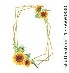 Golden Asymmetric Frame With...